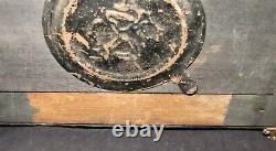Vintage Seth Thomas Adamantine Ornate Mantle Clock, Case Only, No Clockworks
