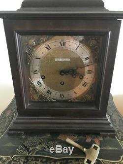 Vintage Seth Thomas Bracket Mohagony Chime Clock