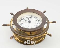 Vintage Seth Thomas Brass Maritime Ship's Bell Clock 1004 CORSAIR-W E537-000