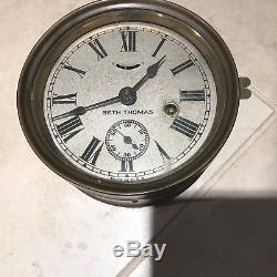 Vintage Seth Thomas Bulkhead Ship's Bell Clock