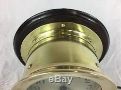 Vintage Seth Thomas Bulkhead Ships Clock, With Chime. German Made, Nautical