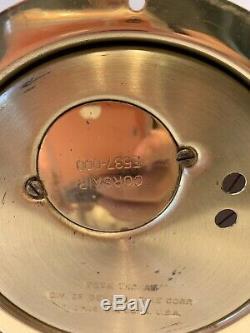 Vintage Seth Thomas Corsair Ship Bell Nautical clock E537-000 As Is No Key