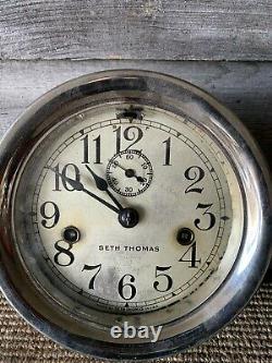Vintage Seth Thomas Double Wind Clock Ships Clock Seth Thomas Clocks