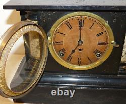 Vintage Seth Thomas F Kroeber Cast Iron Mantel Clock INV13344