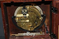 Vintage Seth Thomas Germany made HIGH-QUALITY wood/brass clock withA206-000 WORKS