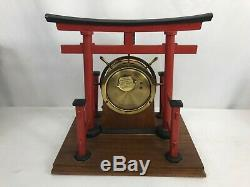 Vintage Seth Thomas Japanese Tori Gate Clock Display