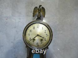Vintage Seth Thomas Key Wind George Washington/Mount Vernon Banjo Wall Clock