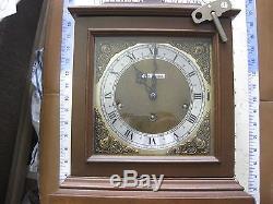 Vintage Seth Thomas Legacy IV Wood Mantle Shelf Clock With Key And Manual