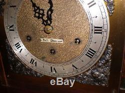 Vintage-Seth Thomas-Mahogany-Westminster Chime-Mantle Clock-#M769