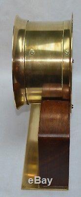 Vintage Seth Thomas Nautical Clock Brass Working With Key