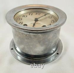 Vintage Seth Thomas Nickel Plated Ships Bell 4 Ship Clock