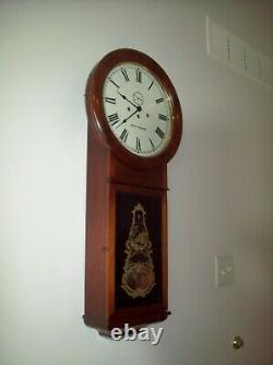 Vintage Seth Thomas Regulator Wall Clock Key Wind Pendulum Movement Works