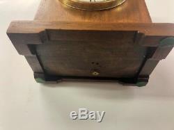 Vintage Seth Thomas Round Top Mantle/shelf Clock Oak 89al