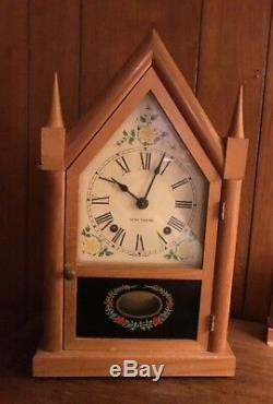 Vintage Seth Thomas Sharon Gothic Cottage Steeple 8 Day Chime Clock Working