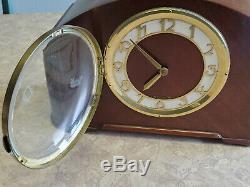 Vintage Seth Thomas Simsbury 1E Mantel Wooden Chime Clock Tested