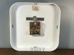 Vintage Seth Thomas Spot Time Model E685 Space Age Wall Clock 1970s Excellent