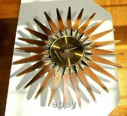 Vintage Seth Thomas Starburst/Sunburst Atomic Mid Century Wall Clock Stylemaster