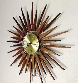 Vintage Seth Thomas Starflower Sunburst