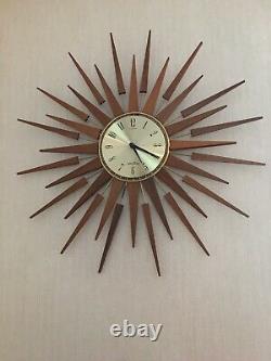 Vintage Seth Thomas Sunburst Clock