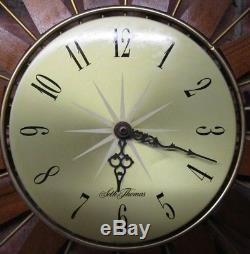 Vintage Seth Thomas Sunburst, Starburst Wall Clock