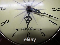 Vintage Seth Thomas Sunburst, Starburst Wall Clock