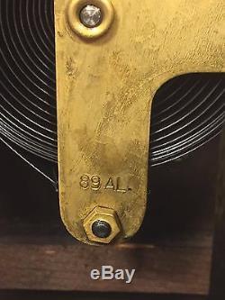 Vintage Seth Thomas Tambour Case Clock Runs & Strikes 89 AL Movement
