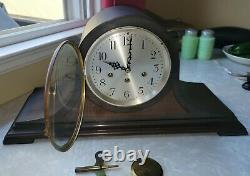 Vintage Seth Thomas Tambour Westminster Wind Up Mantle Clock