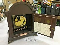 Vintage Seth Thomas Two Jewels Lunar Desk Clock with Moon and Stars