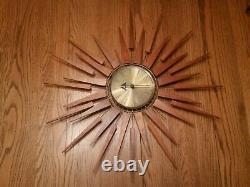 Vintage Seth Thomas Wall Clock Starflower E631-000
