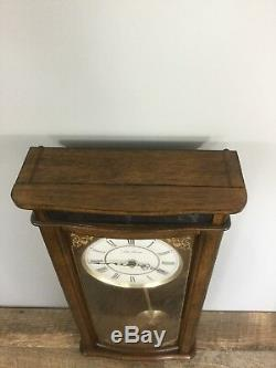 Vintage Seth Thomas Wall Hanging Wood Chime Clock Westminster AVE Maria 23 Tall