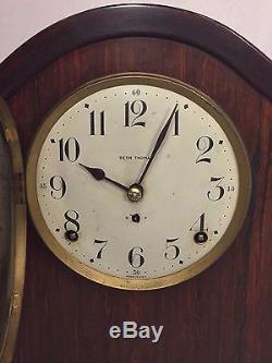 Vintage Seth Thomas Wood Adamantine Clock #89 Mvmt Running & Striking