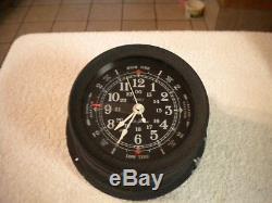 Vintage Seth Thomas quarts seasprite II boat ship clock with tide hand