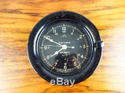 Vintage WW2 Era Seth Thomas Deck Clock US Navy Bakelite Military Wall Clock WWII