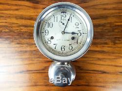 Vintage WW2 U S Navy Seth Thomas Nautical Alarm Clock Ships Maritime Bell Clock