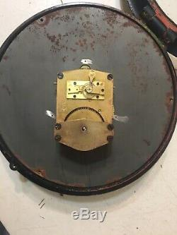Vintage WWII Seth Thomas Ships Clock With 8 Dial Sector Clock Second Sweep