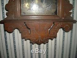 Vintage antique Seth Thomas Eclipse wood wall clock No. C813 used