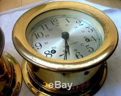 Vtg Brass Seth Thomas CORSAIR Maritime Navy Time Ships Clock/Barometer 1004-000
