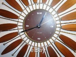 Vtg Mid Century Seth Thomas Intrigue Starburst Sunflower Clock Excellent Working