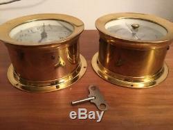 Vtg Seth Thomas CORSAIR-W E537-000 Ships Clock & Barometer E537-010 Works Fine