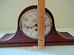 Vtg. Seth Thomas Cat # 1302A (1302-001) Woodbury Shelf / Mantle Clock With Key