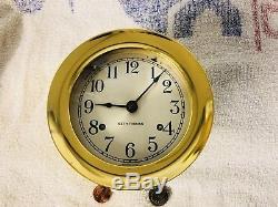 Vtg Seth Thomas Corsair E537-000 maritime ships bell clock service By Me