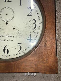 Vtg Seth Thomas Hudson 30 Day Clock Case 24x24x5.5 Parts/Repair/Restore NR