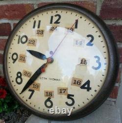 Vtg Seth Thomas School Wall Clock Model E877-000 General Time Corp Motor