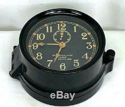 WWII 1943 Seth Thomas US Navy Mark I Deck Clock