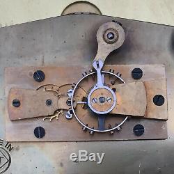WWII Seth Thomas US Coast Guard Ship's Clock Oct 1942 6 Dial Fine Running Cond