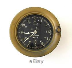 WWII Seth Thomas US NAVY Ships clock 6 dial