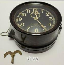 Working 1941 WWII U. S. NAVY Seth Tomas Bakelite Porthole Naval Ship Mark 1 Clock