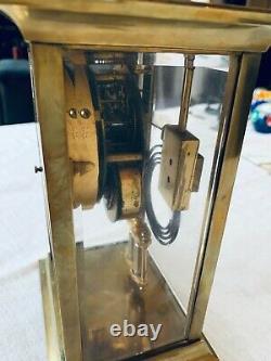 Working Antique Ansonia Crystal Regulator Mantel Clock with Key