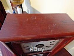 Working Antique Seth Thomas 30 Hour Cottage Clock With Reverse Painted Bird