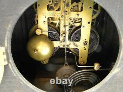 Working Seth Thomas 295 Key Wind Adamantine Case Mantle Clock lion heads columns